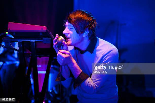 Owl City performs in a sold out concert at the Lifestyle Communities Pavilion on January 28 2010 in Columbus Ohio