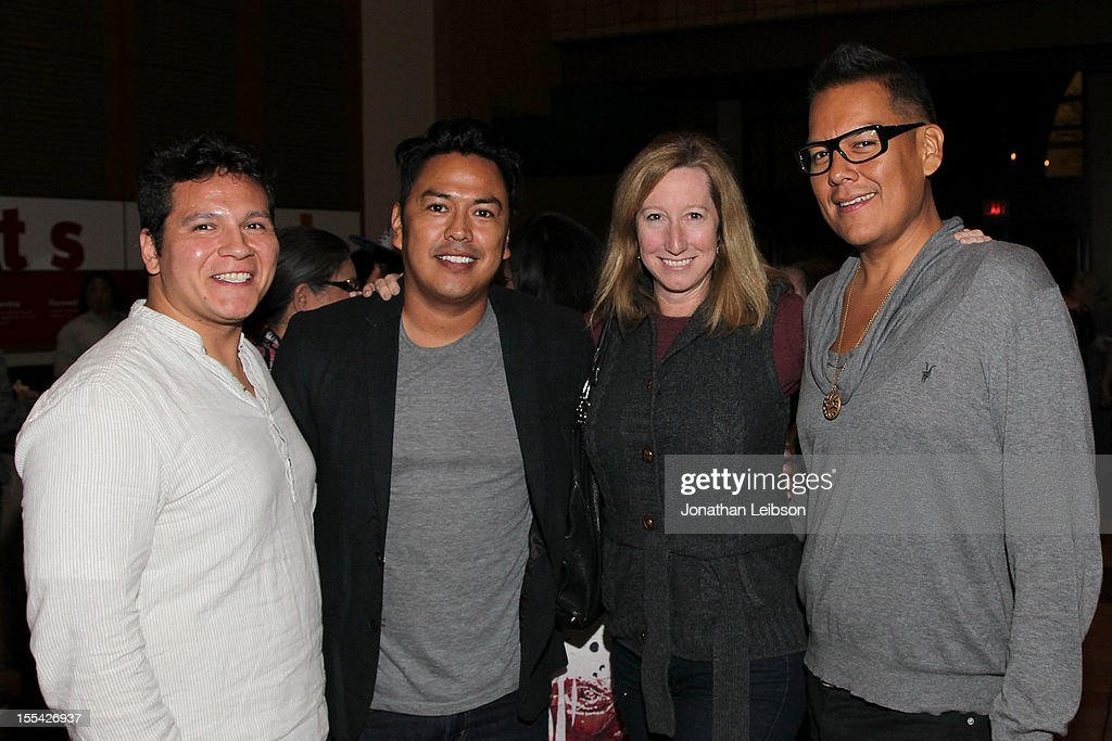 Owl Johnson, Billy Luther, Keri Putnam and Bird Runningwater attend the Sundance Institute At The Autry Presents 'Native Films' at The Autry National Center on November 3, 2012 in Los Angeles, California.