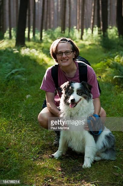 Owner and Australian Shepherd