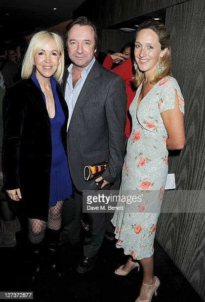 Owner and Chief Executive of The Old Vic Sally Greene Neil Pearson and Kate Pakenham attend an after party celebrating Press Night of 'The Playboy Of...