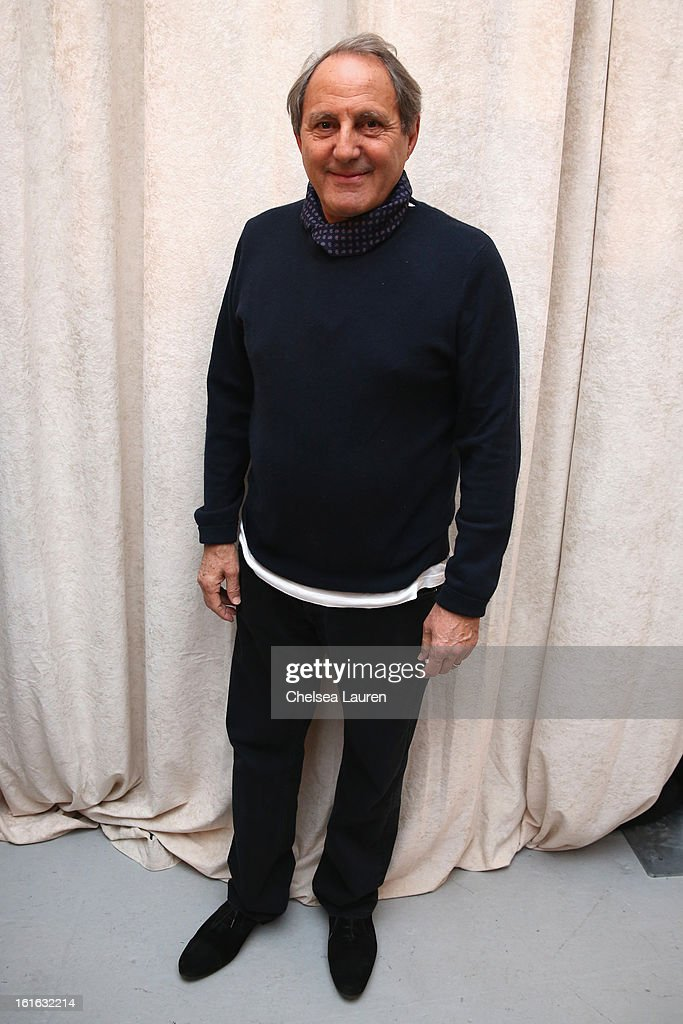 Owner and Creative Director Serge Azria poses at the Joie Fall 2013 fashion show presentation during Mercedes-Benz Fashion Week at Center 548 on February 13, 2013 in New York City.