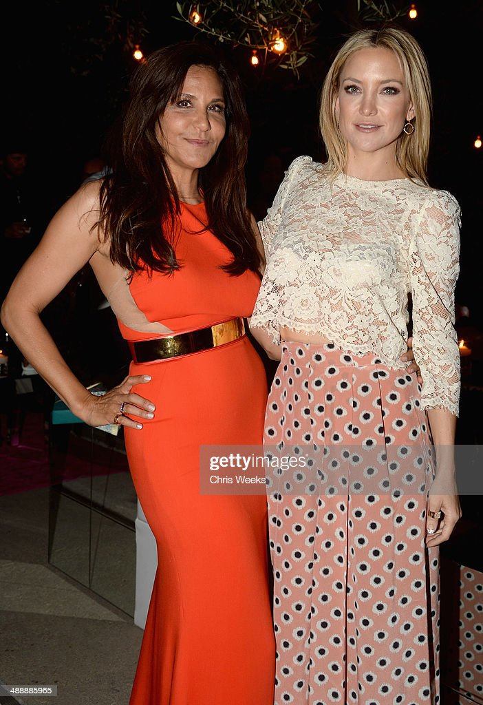 Owner and designer of Chrome Hearts Laurie Lynn Stark (L) and actress Kate Hudson attend Chrome Hearts & Kate Hudson Host Garden Party To Celebrate Collaboration at Chrome Hearts on May 8, 2014 in Los Angeles, California.