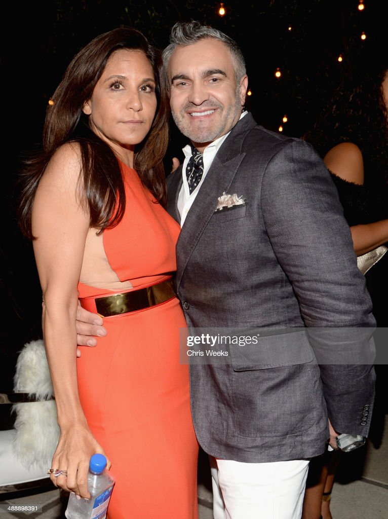 Owner and designer of Chrome Hearts <a gi-track='captionPersonalityLinkClicked' href=/galleries/search?phrase=Laurie+Lynn+Stark&family=editorial&specificpeople=2697054 ng-click='$event.stopPropagation()'>Laurie Lynn Stark</a> (L) and interior designer Martyn Lawrence-Bullard attend Chrome Hearts & Kate Hudson Host Garden Party To Celebrate Collaboration at Chrome Hearts on May 8, 2014 in Los Angeles, California.