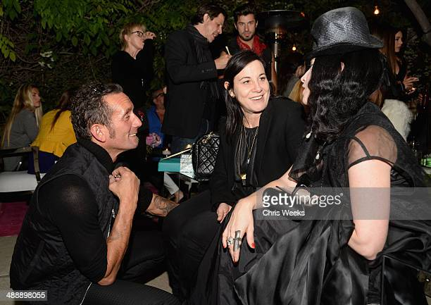 Owner and designer of Chrome Hearts Richard Stark and stylists Arianne Phillips and B Akerlund attend Chrome Hearts Kate Hudson Host Garden Party To...