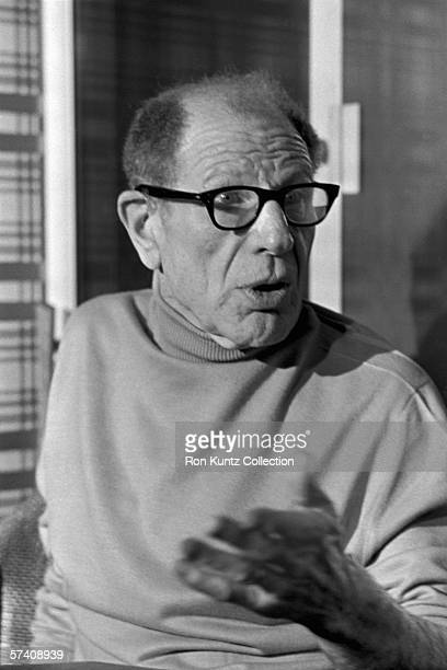 Owner Bill Veeck of the Chicago White Sox is interviewed during a meeting of the owners of the teams in the American League held on December 3 1975...