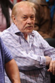 Owner Dr Jerry Buss of the Los Angeles Lakers attends a game against the Portland Trail Blazers at Staples Center on November 7 2010 in Los Angeles...