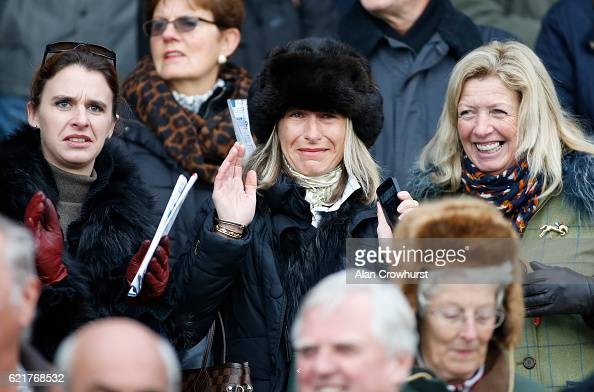 Owner Heather Haddock sheds a tear as Adrian Heskin riding her horse Max Ward win The Tom Jones Memorial HTJ Centre Ltd Steeple Chase at Huntingdon...