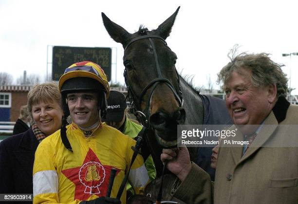 Owner John Hales with Azertyuiop and jockey Ruby Walsh after winning the totepool Game Spirit Chase