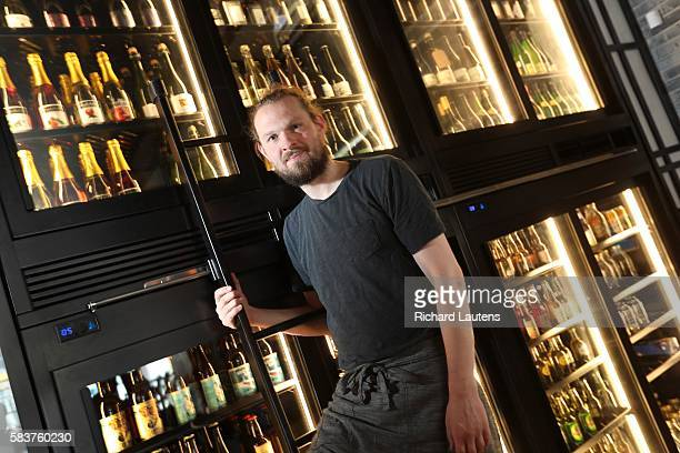 TORONTO ON JULY 8 Owner Joshua Mott hangs out by his cider fridge Her Father's Cider Bar Kitchen with owner Joshua Mott has been open for 5 weeks on...