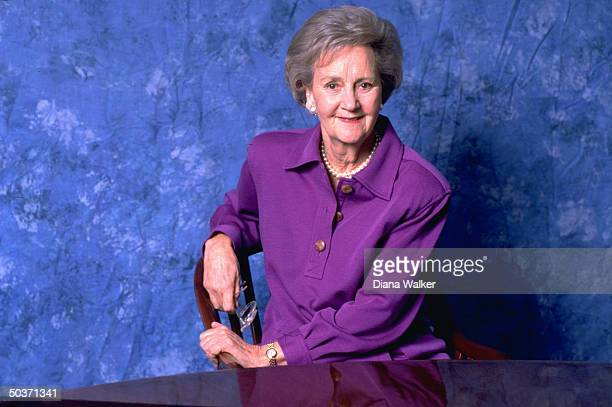 POST owner Katharine Graham speaking about her new autobiography Personal History in her office