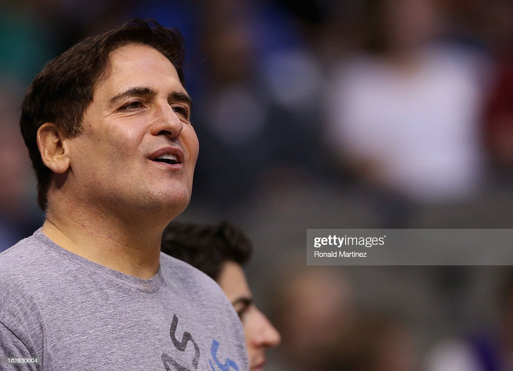 Owner, Mark Cuban of the Dallas Mavericks at American Airlines Center on February 24, 2013 in Dallas, Texas.