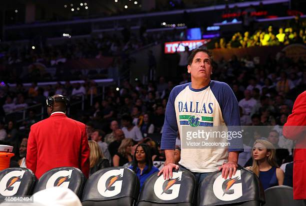 Owner Mark Cuban of the Dallas Mavericks attends the NBA game between the Dallas Mavericks and the Los Angeles Lakers at Staples Center on March 8...