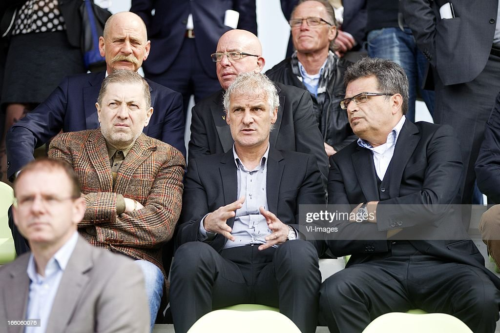 Owner Merab Jordania, Coach Fred Rutten, Technical Director Ted van Leeuwen during the presentation of the new training centre at Papendal in april 8, 2013 in Arnhem, The Netherlands