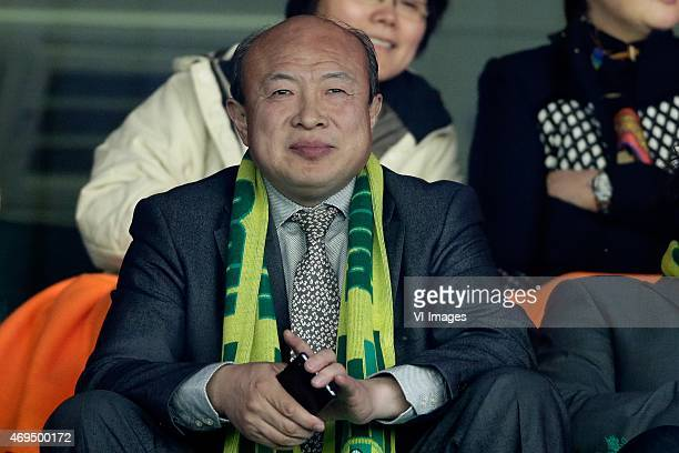 owner of ADO Den Haag Hui Wang during the Dutch Eredivisie match between ADO Den Haag and FC Utrecht at Kyocera stadium on April 12 2015 in The Hague...