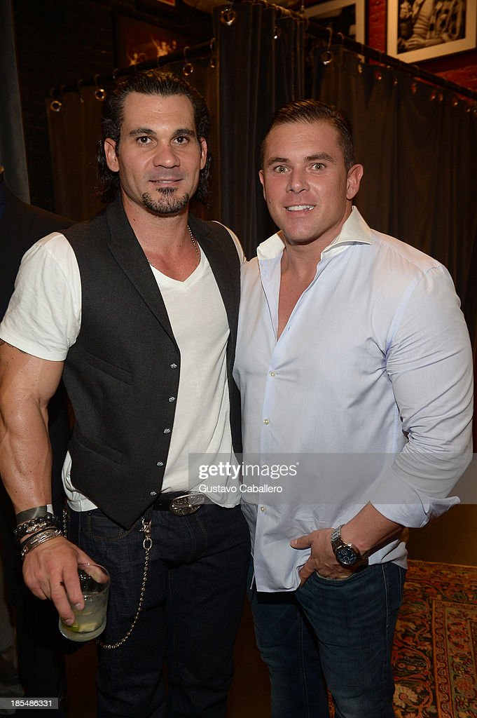 Owner of Adore Miami Nightclub Cory McCormack and Marketing Director of Adore Miami Nightclub Justin Hensley attend the Rock in Fashion Book Launch at John Varvatos South Beach Miami on October 19, 2013 in Miami, Florida..