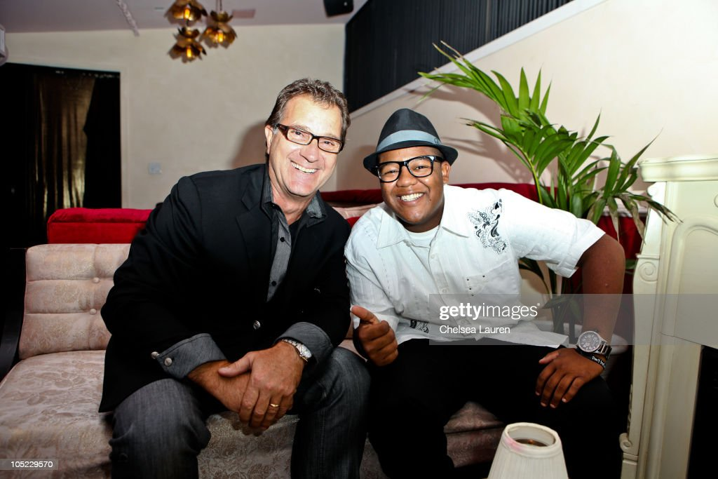 Owner of Doctrine Denim George Latos and actor Kyle Massey attend the Doctrine Denim launch party at Boudoir on October 12, 2010 in Los Angeles, California.
