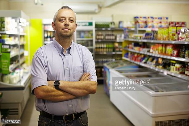 Owner of general stores in his shop