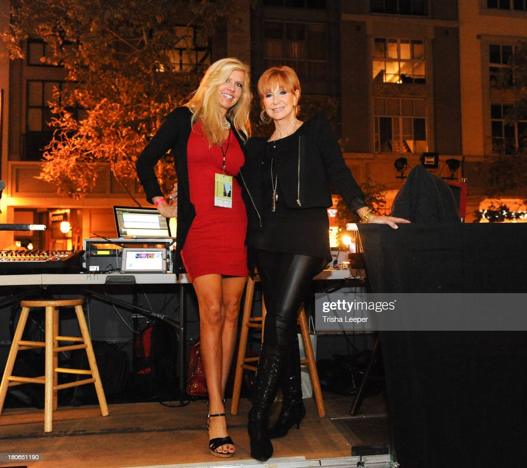 Owner of HMM Modeling Agency Traci Halvorson and Fashion Producer Beverly Zeiss attend Santana Row Fall Fashion Show 2013 on September 14, 2013 in San Jose, California.