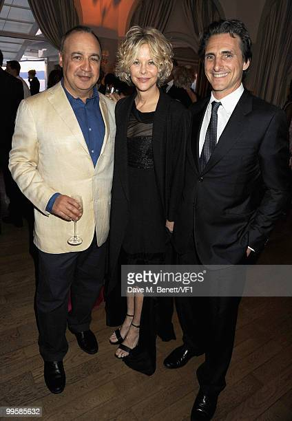 Owner of Icon Films Len Blavatnik actress Meg Ryan and producer Lawrence Bender attend the Vanity Fair and Gucci Party Honoring Martin Scorsese...