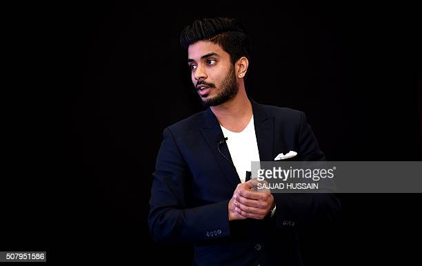 Owner of Indian Premier League's Rajkot team and director of Intex Technologies Keshav Bansal speaks to the media at a press conference in New Delhi...