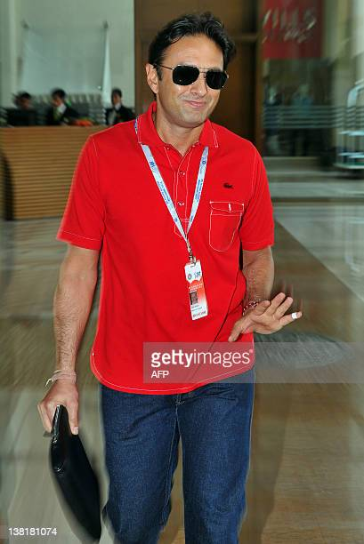 Owner of Kings XI Punjab Ness Wadia arrives for the players' auction for the fifth edition of the Indian Premier League cricket in Bangalore on...