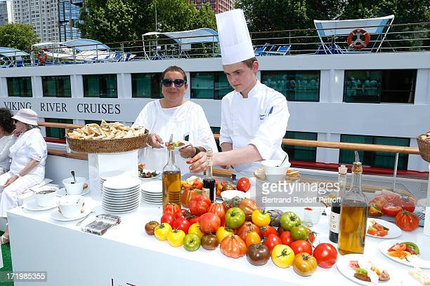 Owner of 'La Petite Maison De Nicole' Nicole Rubi who made the Buffet attend 'Brunch Blanc' hosted by Groupe Barriere for Sodexho on June 30 2013 in...