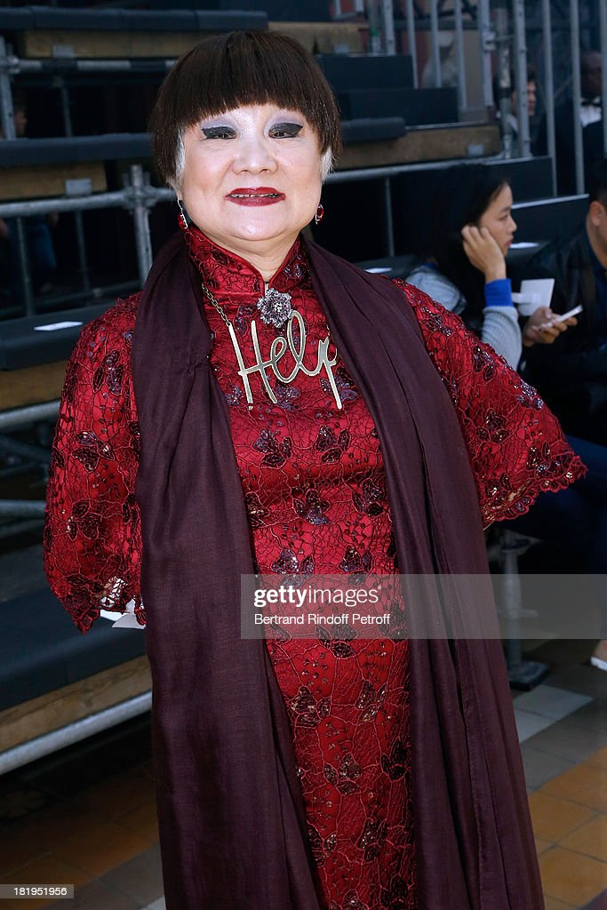 Owner of Lanvin, Shaw Lan Wang attends Lanvin show as part of the Paris Fashion Week Womenswear Spring/Summer 2014, held at 'Ecole des beaux Arts on September 26, 2013 in Paris, France.