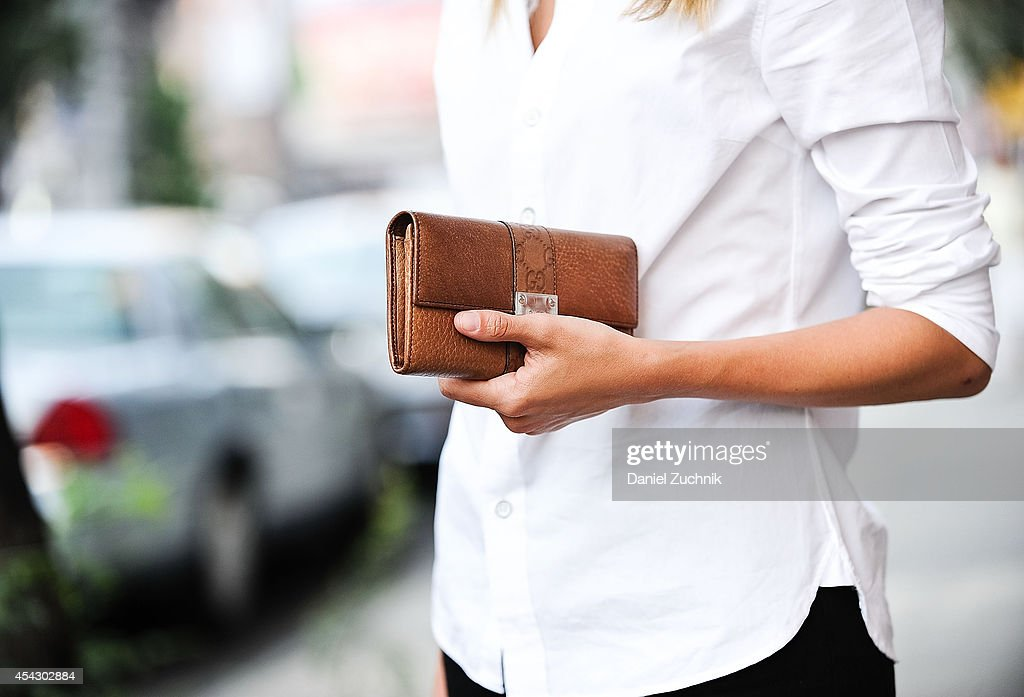 Owner of Lions Model Agency Madisyn Ritland is seen around Soho wearing Rag and Bone shirt, Acne pants with a Gucci clutch on August 28, 2014 in New York City.