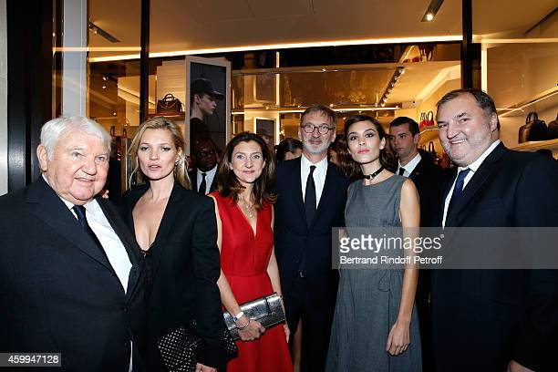 Owner of Longchamp Philippe Cassegrain Model Kate Moss Arts Director of Longchamp Sophie Delafontaine General Director of Longchamp Jean CassegrainTV...