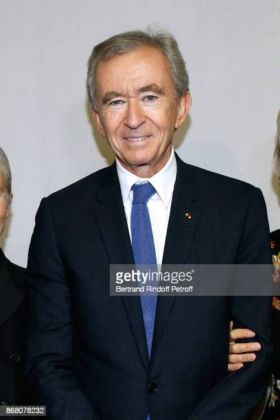 Owner of LVMH Luxury Group Bernard Arnault attends the Christian Dior show as part of the Paris Fashion Week Womenswear Spring/Summer 2018 on...