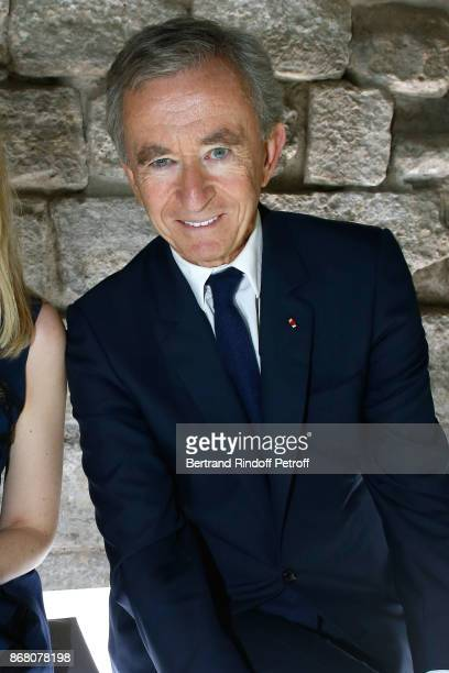 Owner of LVMH Luxury Group Bernard Arnault attends the Louis Vuitton show as part of the Paris Fashion Week Womenswear Spring/Summer 2018 on October...
