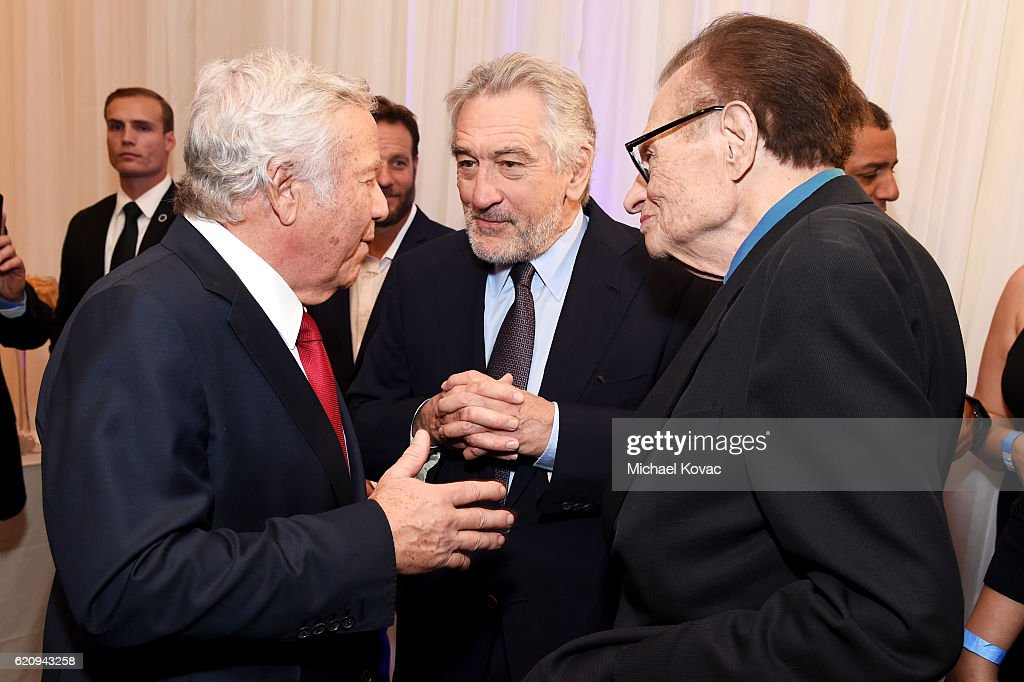 Owner of New England Patriots Robert Kraft, actor Robert De Niro and TV personality Larry King attend Friends Of The Israel Defense Forces Western Region Gala at The Beverly Hilton Hotel on November 3, 2016 in Beverly Hills, California.