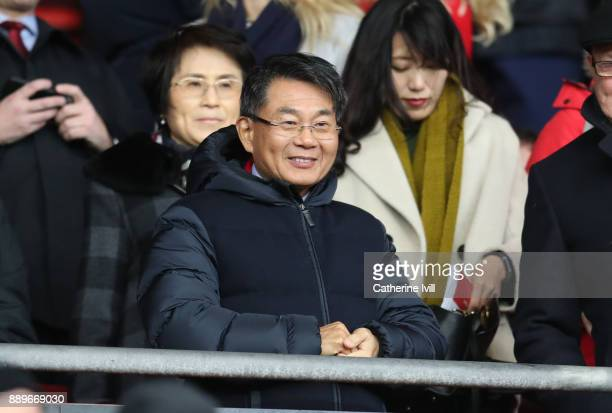 Owner of Southampton Gao Jisheng during the Premier League match between Southampton and Arsenal at St Mary's Stadium on December 10 2017 in...
