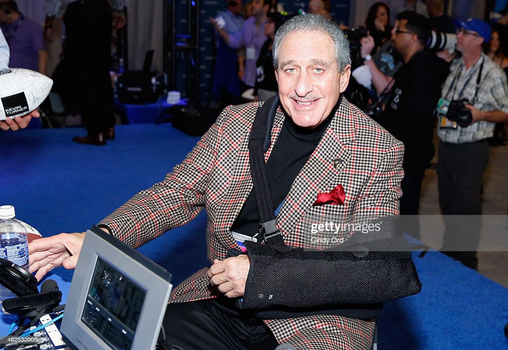 Owner of the Atlanta Falcons <a gi-track='captionPersonalityLinkClicked' href=/galleries/search?phrase=Arthur+Blank&family=editorial&specificpeople=1278336 ng-click='$event.stopPropagation()'>Arthur Blank</a> attends SiriusXM at Super Bowl XLIX Radio Row at the Phoenix Convention Center on January 30, 2015 in Phoenix, Arizona.