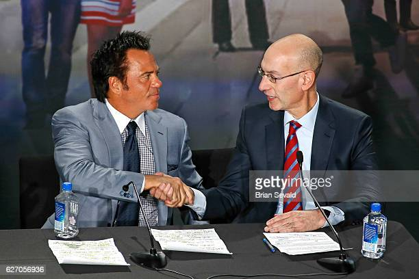Owner of the Detroit Pistons Tom Gore and NBA Commissioner Adam Silver announced they will move downtown Detroit and begin playing at the new Little...