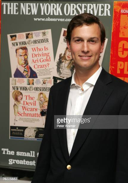 Owner of the New York Observer Jared Kushner attends the New York Premiere of 'The Hunting Party' at the Paris Theater on August 22 2007 in New York...