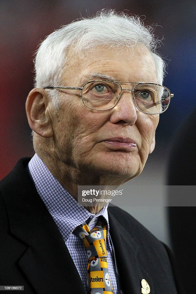 Owner of the Pittsburgh Steelers <a gi-track='captionPersonalityLinkClicked' href=/galleries/search?phrase=Dan+Rooney&family=editorial&specificpeople=725695 ng-click='$event.stopPropagation()'>Dan Rooney</a> looks on before the Steelers take on the Green Bay Packers at Cowboys Stadium on February 6, 2011 in Arlington, Texas.