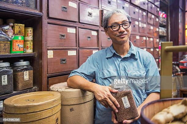 Owner of Traditional Chinese Medicine Shop in Kowloon Hong Kong