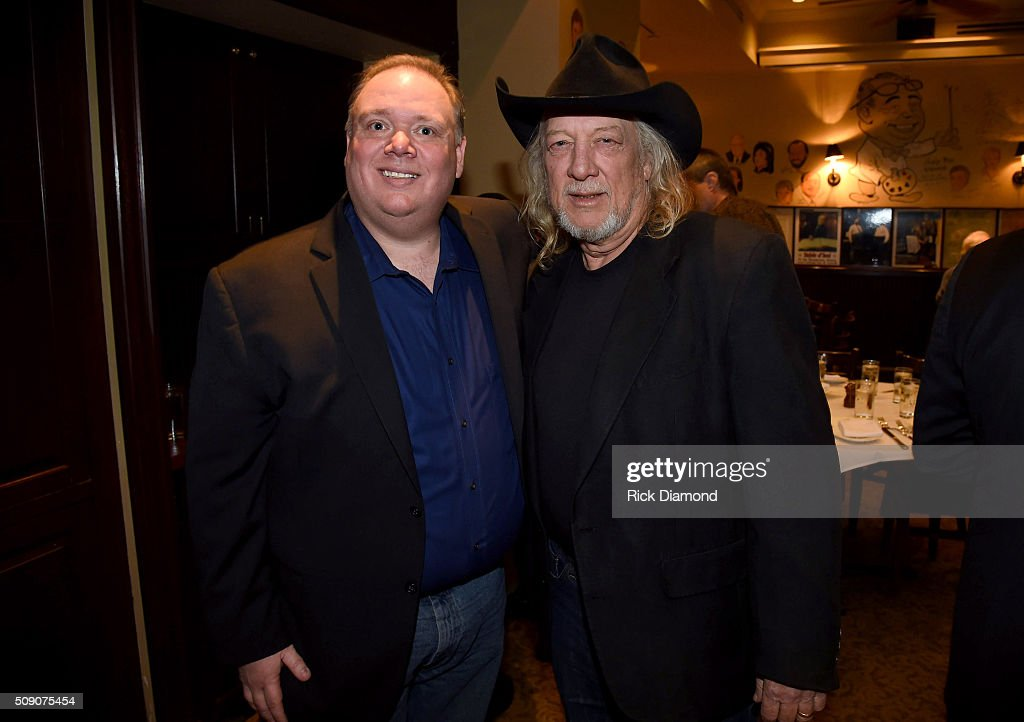 Owner of Webster PR Kirt Webster and John Anderson attend the 2nd Annual Legendary Lunch presented by Webster Public Relations and CMA at The Palm Restaurant on February 8, 2016 in Nashville, Tennessee.