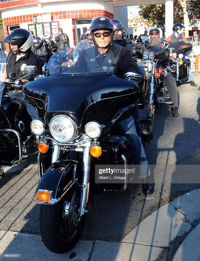 Owner Oliver Shokouh participates in the 30th Anniversary Love Ride held at Glendale Harley-Davidson on October 20, 2013 in Glendale, California.