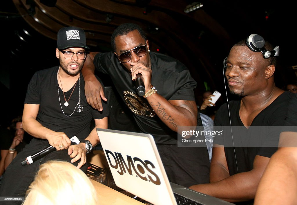 1OAK owner Richie Akiva and producer Sean Combs attend Richie Akiva's birthday celebration at 1OAK on September 18 2014 in West Hollywood California