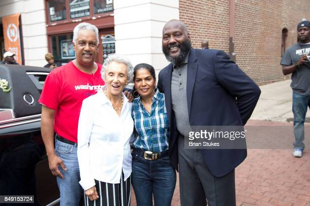 Owners of Bens Chilli Bowl Ali Family and Christian Gregory attend Dick Gregory's Parade Of Life at The Legendary Howard Theatre on September 17 2017...