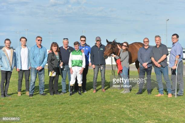 Owners of Doc's Hero after winning the XXXX Gold BM70 Handicap at Racingcom Park Synthetic Racecourse on September 21 2017 in Pakenham Australia