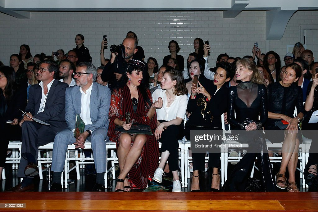 Owners of Gaultier Manuel Puig and his brother Marc Puig actress Rossy de Palma singer of 'Christine and the Queens' Eloise Letissier Farida Khelfa...