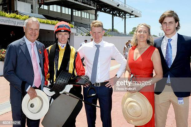 Owners of Navagio after winning Doriemus Handicap at Flemington Racecourse on January 28 2017 in Flemington Australia