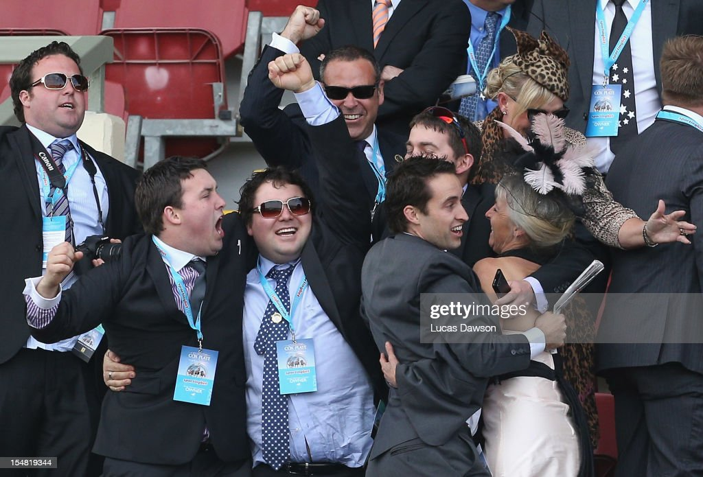 Owners of Ocean Park celebrate winning the Cox Plate race during Cox Plate Day at Moonee Valley Racecourse on October 27, 2012 in Melbourne, Australia.
