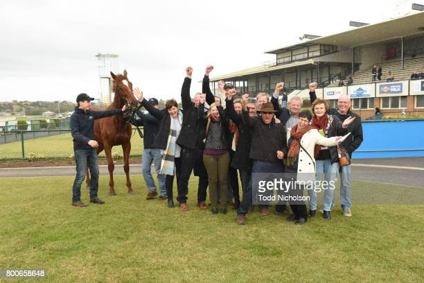 Owners of Poetic Ray after winning the Mark Struth Signs Maiden Plate at Warrnambool Racecourse on June 25 2017 in Warrnambool Australia