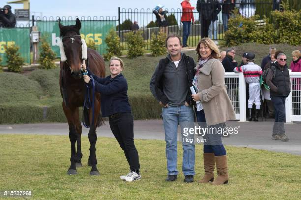 Owners of Rich Luck after winning the Clark Rubber Geelong BM78 Handicap at Geelong Racecourse on July 16 2017 in Geelong Australia