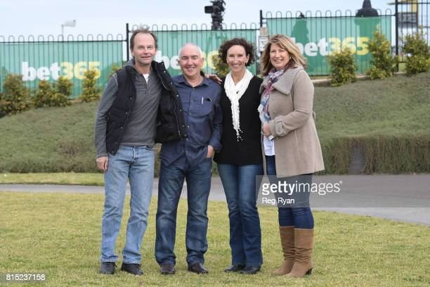 Owners of Rich Luck with sponsors after winning the Clark Rubber Geelong BM78 Handicap at Geelong Racecourse on July 16 2017 in Geelong Australia