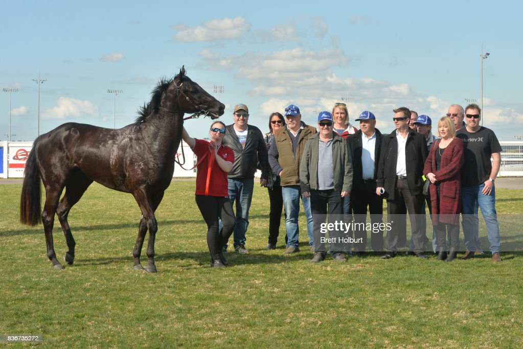 Owners of Southern Bolt (NZ) after winning Racing.com SV 3YO Maiden Plate at Racing.com Park Synthetic Racecourse on August 22, 2017 in Pakenham, Australia.